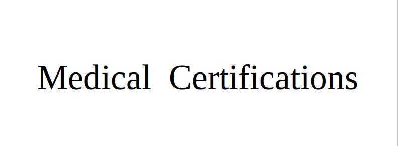 Medical Certifications Nikolaos Panagiotopoulos Marousi